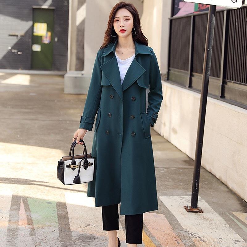 秋季女式风衣 中长款外套 大衣 品牌折扣女装单品 尾货批发