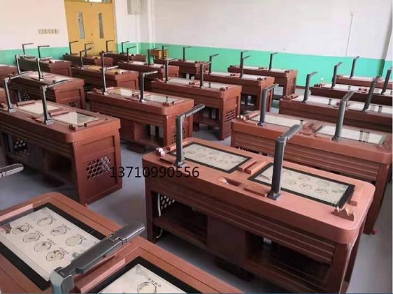 上海博奥12年老牌智慧书法教室专用桌 书法学习软件
