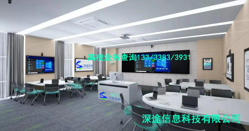 河南省很多学校的智慧教室升级先升级智慧黑板深途第六代智慧黑板满足需要