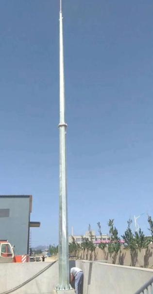 30米环形钢管杆避雷针 35米环形钢管避雷针定制厂家