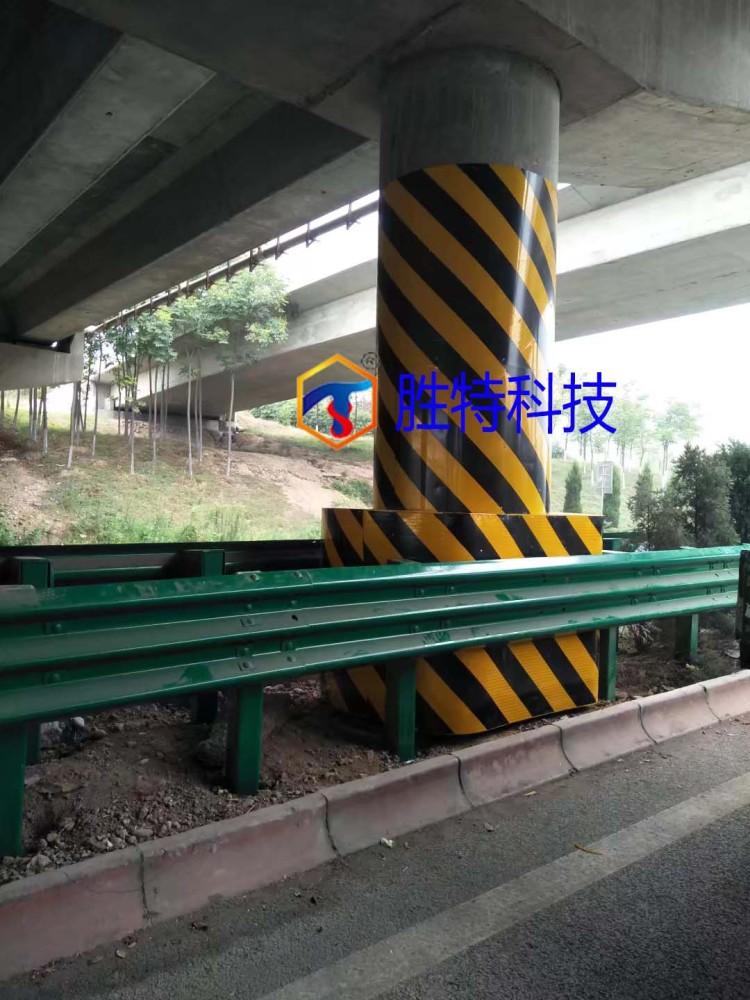 西塔高速公路桥墩防撞设施