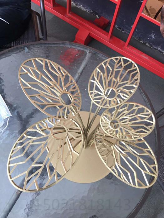 南京不锈钢花卉雕塑 园林景观花摆件