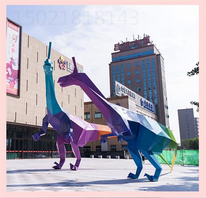 福州不锈钢切面恐龙雕塑 工程案例图