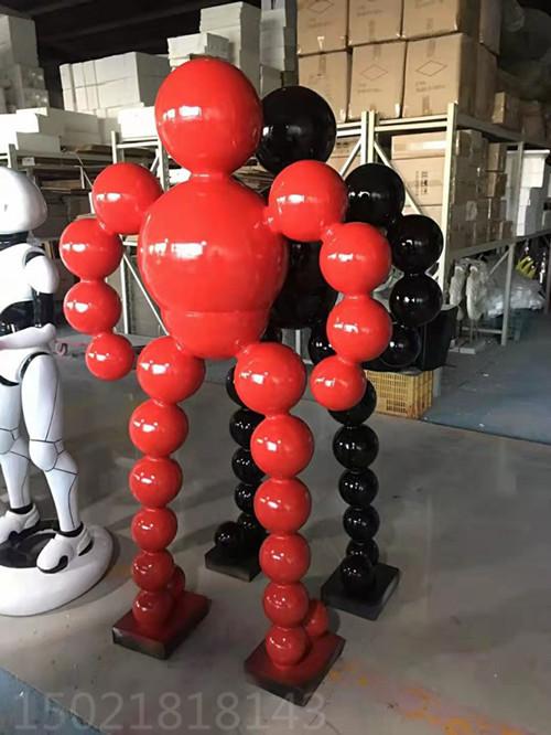 现代不锈钢抽象人物雕塑 创意运动健将工艺品摆件