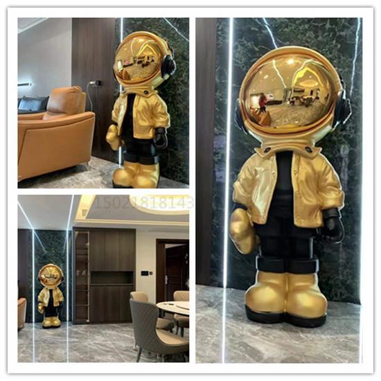 资兴大型会客室小金人雕塑 电镀镜面人物雕塑定制