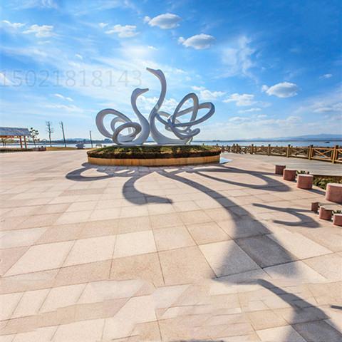 山东城市景观白天鹅雕塑 不锈钢抽象动物摆件