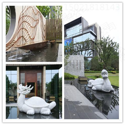 长春大型楼盘 天然石材龙龟雕塑 动物景观摆件