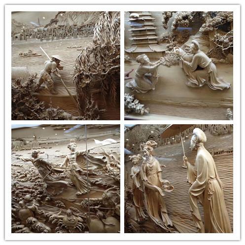 室内景观立体人物浮雕 旅游区古风景雕塑设计制作