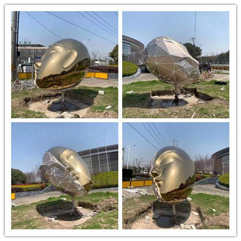 济南广场工程 不锈钢电镀面谱雕塑 镜面镂空雕塑制作