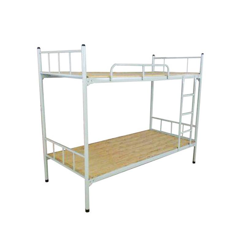 铁制学生架子床,学生双层钢木床,钢制上下床,带床下柜员工宿舍铁床