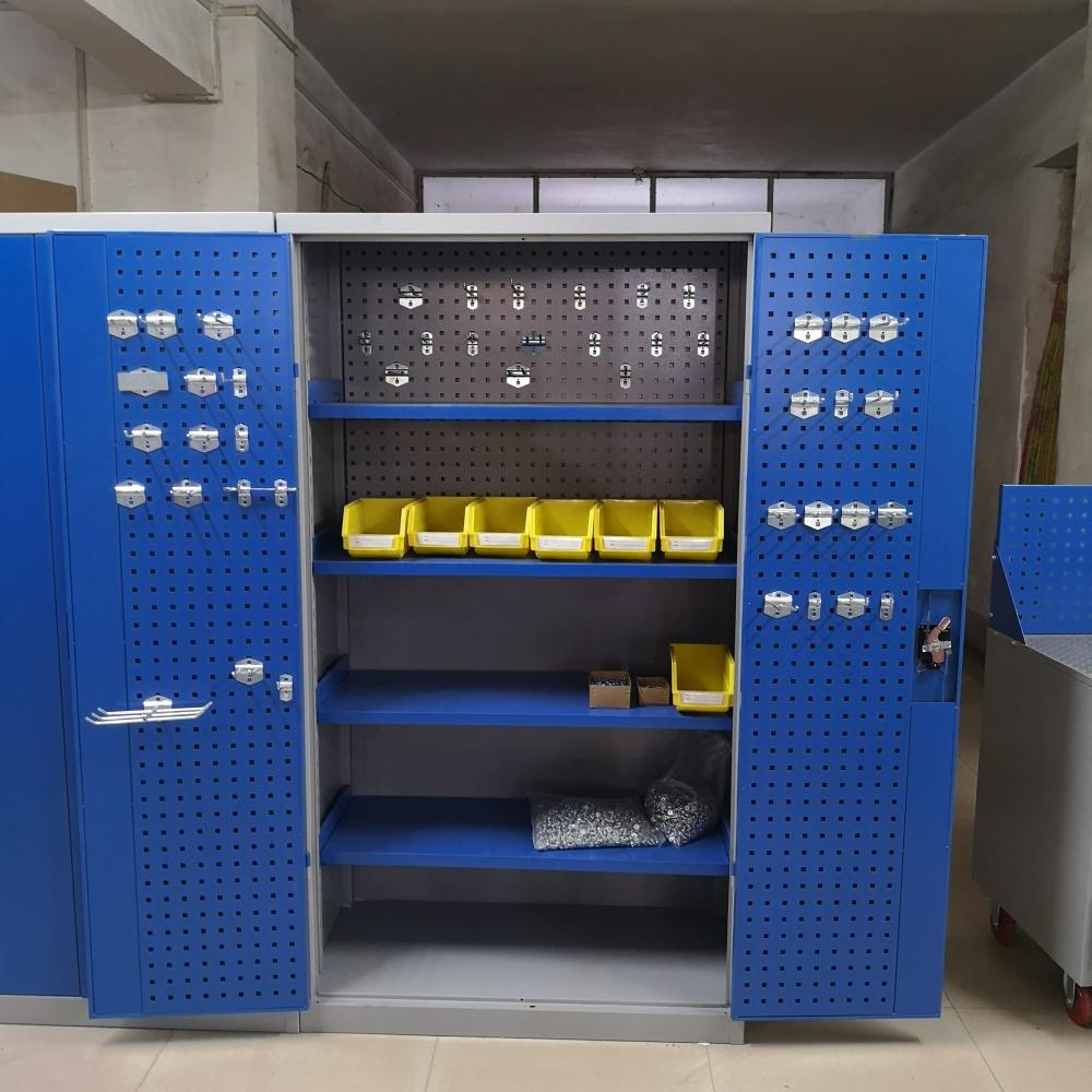 洛阳友时双开门置物柜多功能零件柜重型五金汽修工具柜