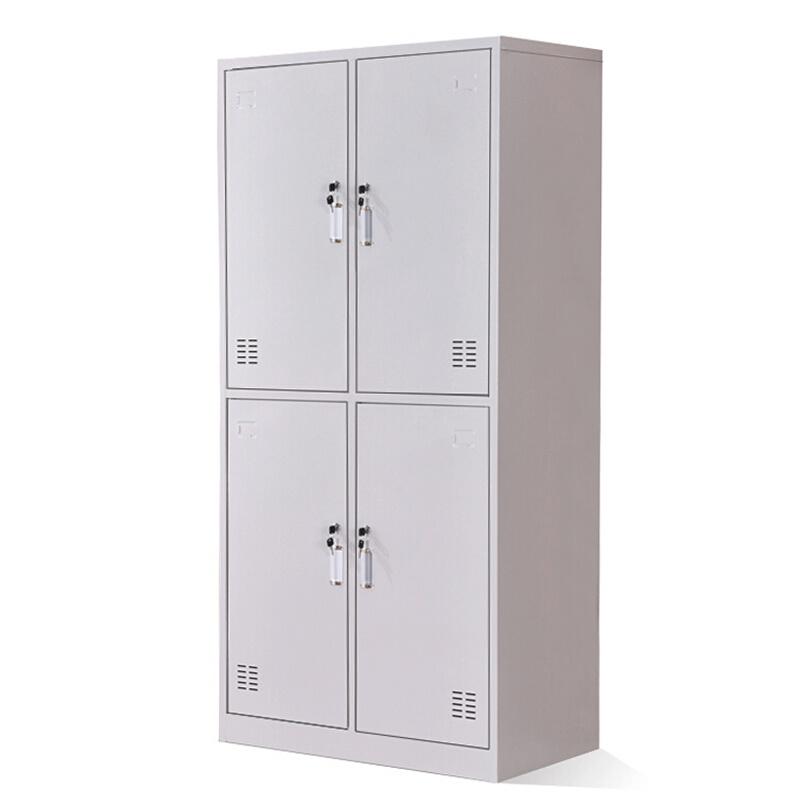 洛阳友时四门多功能更衣柜加厚铁皮拆装物品柜员工衣帽柜物品存放柜