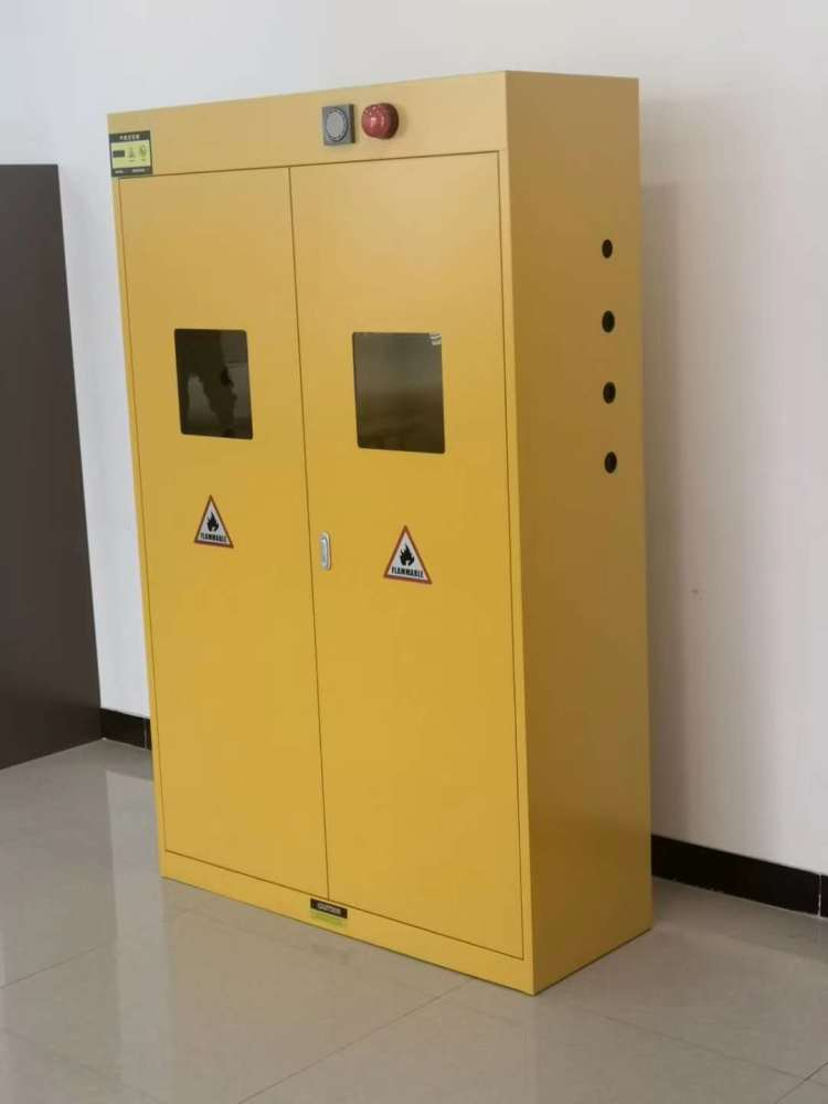 全钢气瓶柜,实验室危险化学品存储柜,智能带报警防爆柜