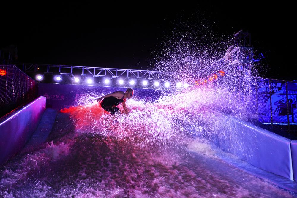 上海漫波(图)、水上冲浪商场机、白银冲浪