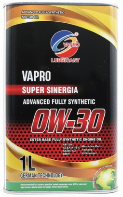 马来西亚vapro威保金属罐0W30全合成酯油汽车机油