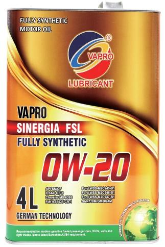马来西亚vapro威保汽车机油金属罐0W20全合成汽车润滑油