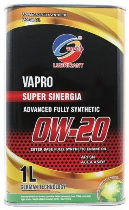 vapro威保润滑油金属罐0W20全合成酯油汽车机油