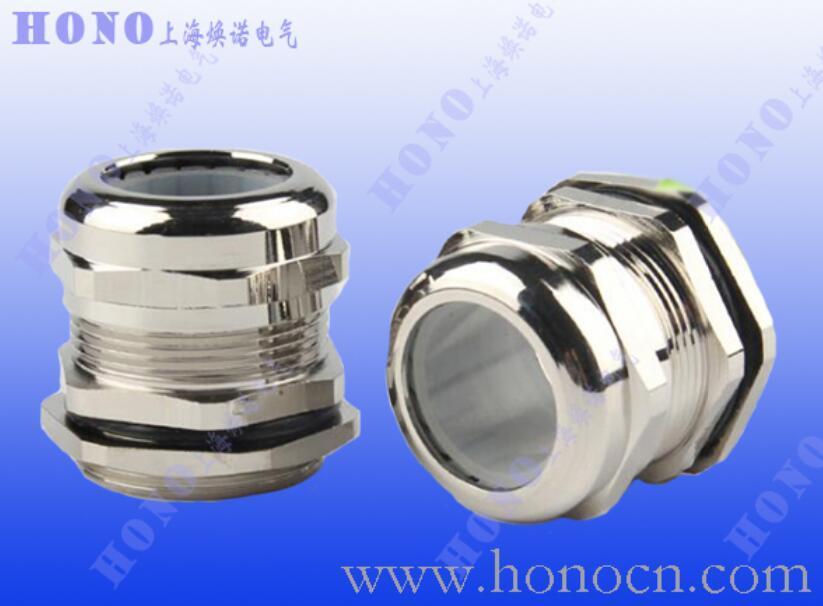 上海焕诺电气HONO耐高温黄铜镀镍电缆防水接头,耐高温硅胶金属格兰头