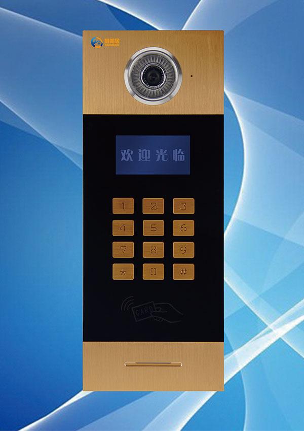 供应慧美居品牌网线数码彩色可视楼宇对讲系统