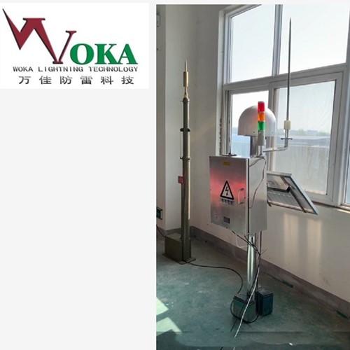 四川光伏发电站雷电预警和升降避雷针联动 全自动雷电预警防护