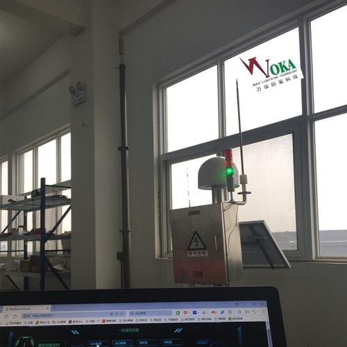 油库雷电预警系统 旅游景区智能雷电监测报警系统同步升降避雷针