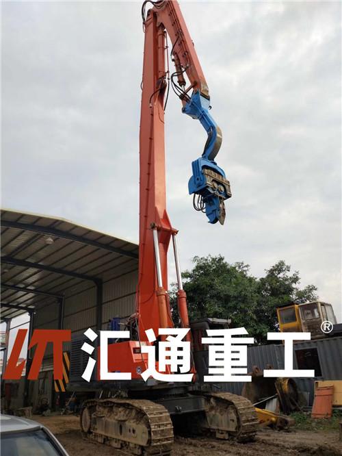 生产改装挖掘机打桩臂、液压打桩机定制厂家
