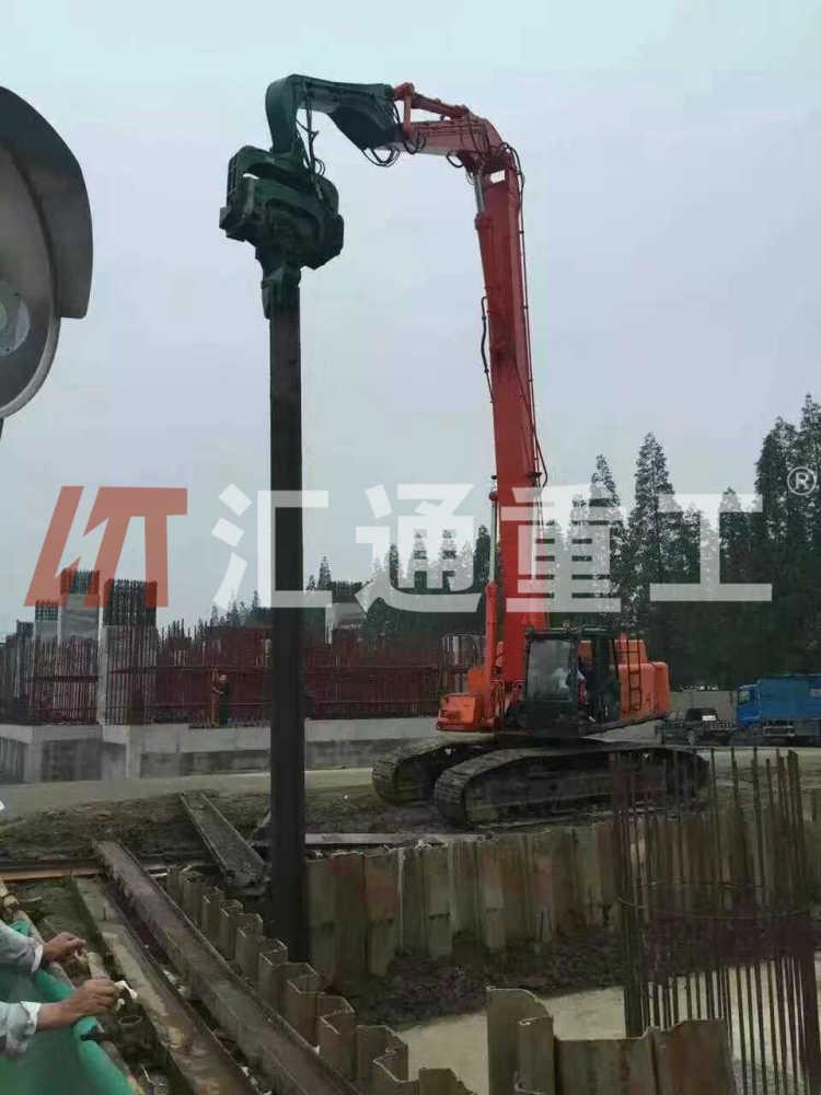 广东挖掘机配件液压打桩臂厂家直销