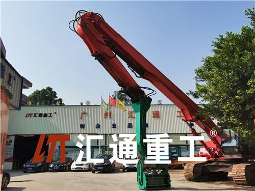 广东挖掘机配件液压打桩臂制造厂家