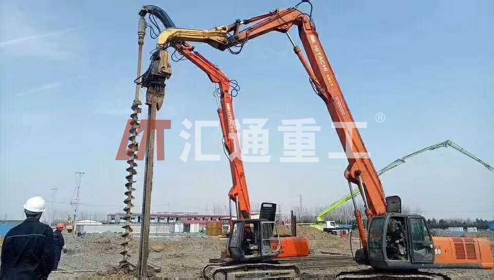挖掘机打桩臂、18米打桩臂安全可靠