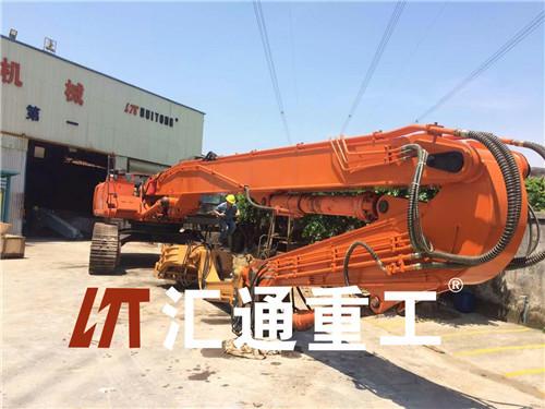 广州挖掘机卡特336,13米打桩臂现货优惠促销