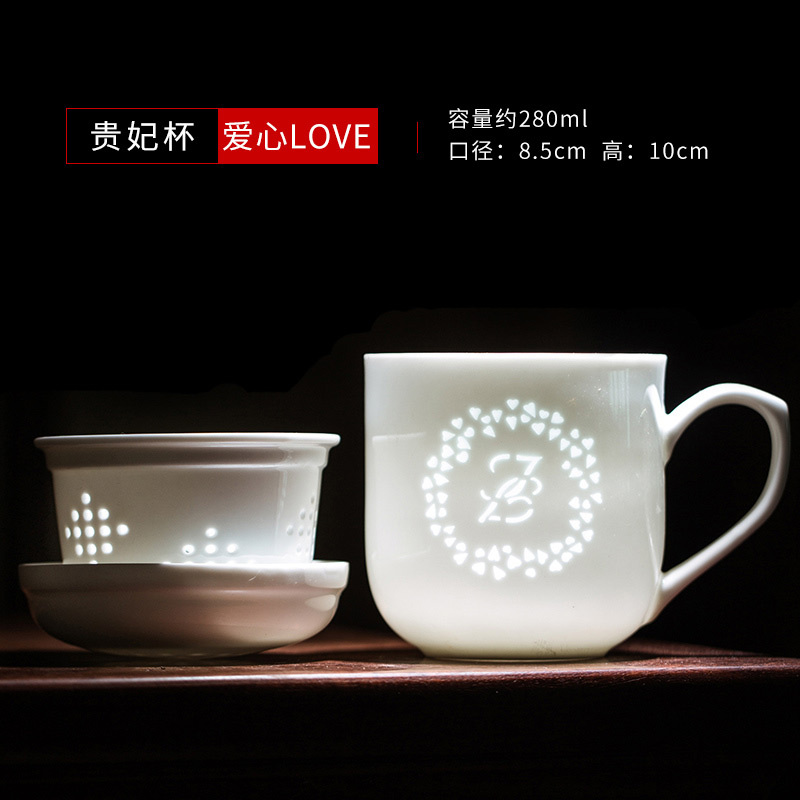 純白辦公杯子訂做LOGO,2020新年回饋老客戶禮品茶杯定制
