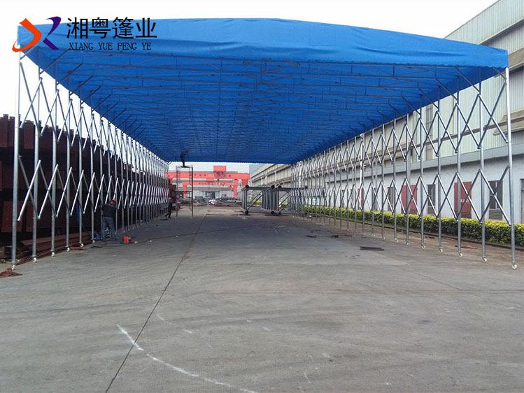珠海高栏热销定制移动推拉篷电动遮阳蓬江门湘粤供应雨篷个性咖啡篷