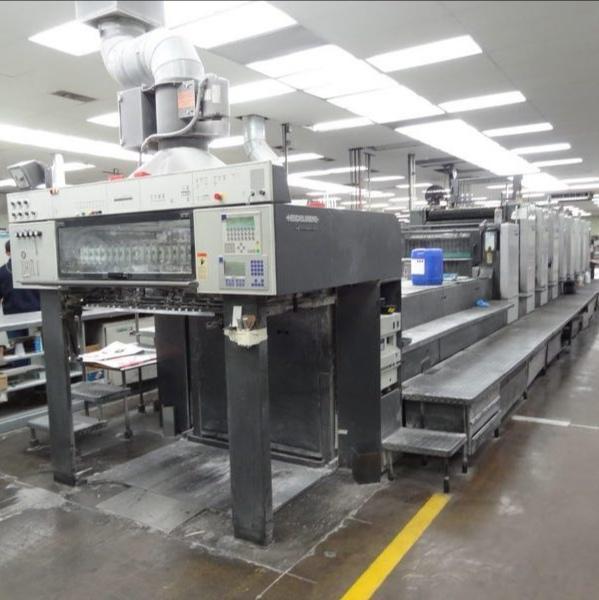 台州胶印机小森L544+L胶印机全开5色印刷机胶印机平版机型印刷机械