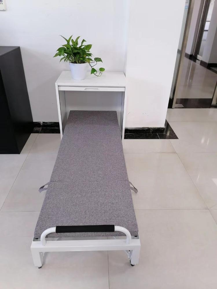 钢制午休床员工抽屉式办公桌折叠床办公室屏风隐形折叠床伸缩陪护床