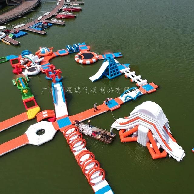 水上乐园水上闯关设备游乐厂家支架水池充气水池