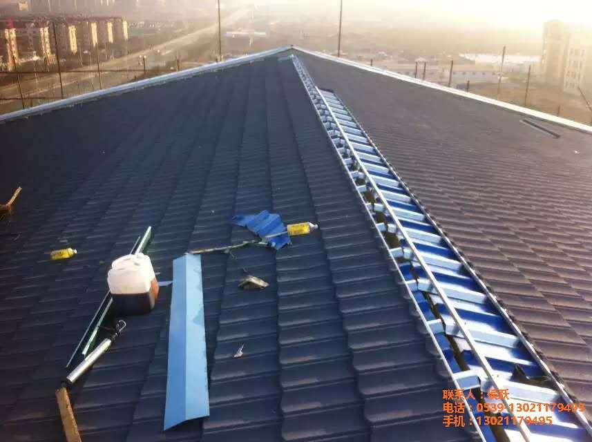 内蒙古彩石金属瓦厂家仿古大罗马型金属瓦镀铝锌彩石瓦新型屋顶瓦
