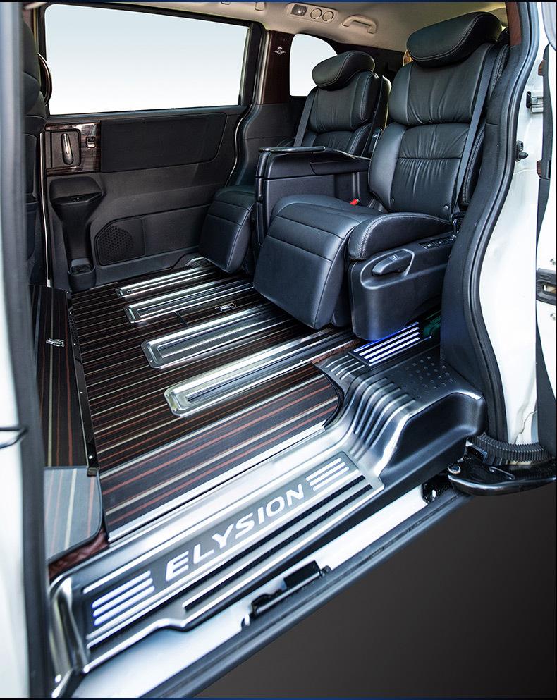 廣州市奧德賽MPV汽車實木木地板改裝