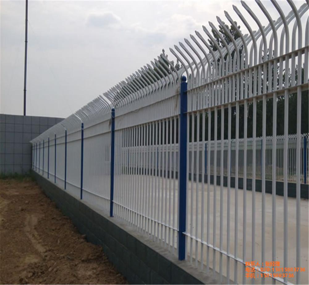廣州圍墻護欄生產廠家 蘿崗廠區外墻鐵藝圍欄定做