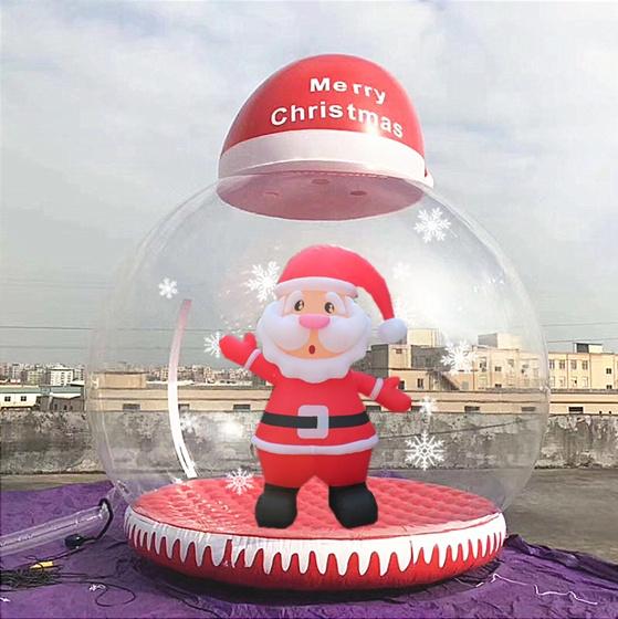 厂家定制充气透明雪花球