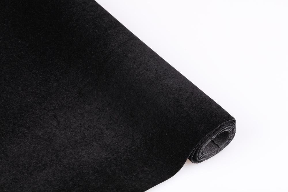 厂家直销黑色水刺短毛植绒布 相框绒布 可代背胶植绒布