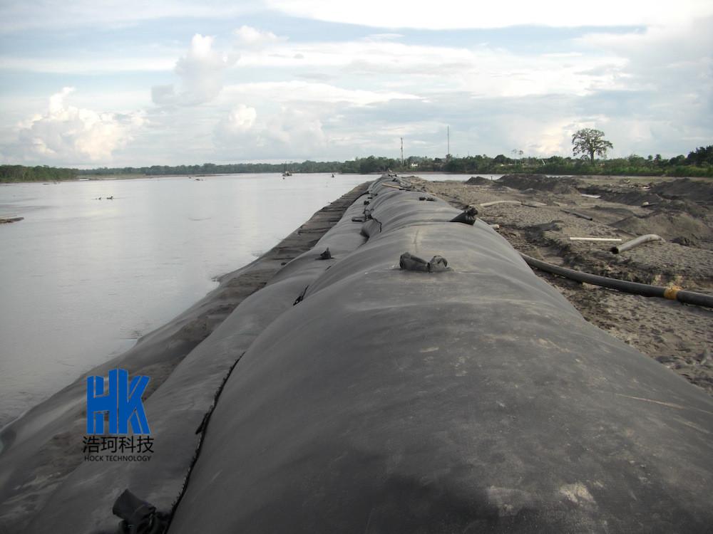 黑臭水体 土工管袋(图)、湖泊淤泥脱水、潍坊淤泥脱水