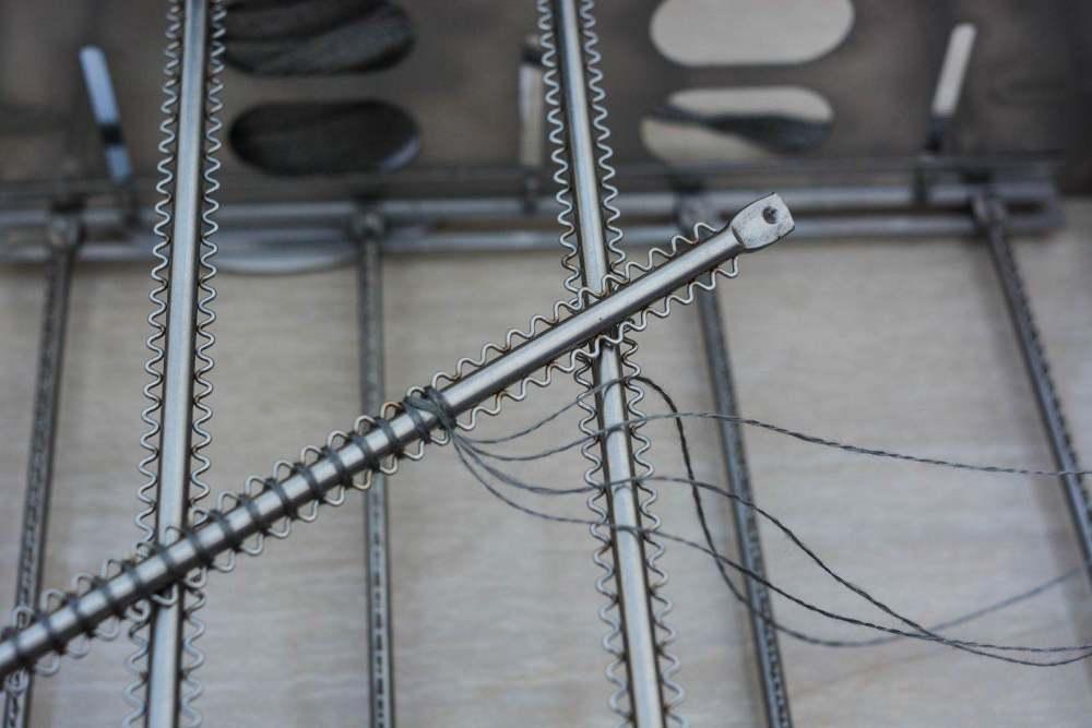 专业生产高温金属针织布