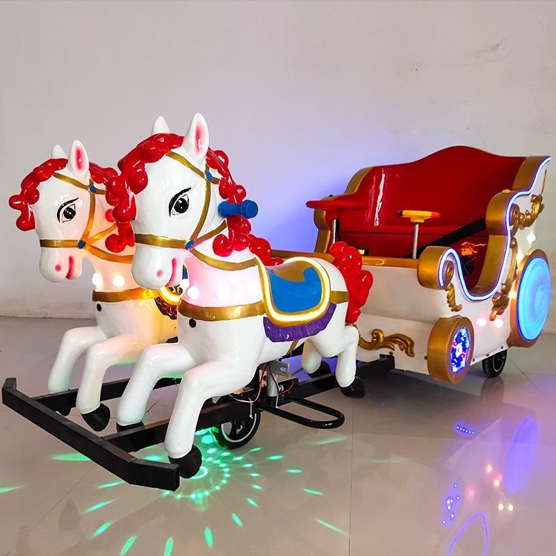 厂家直销专利产品皇家马车电动游乐设备
