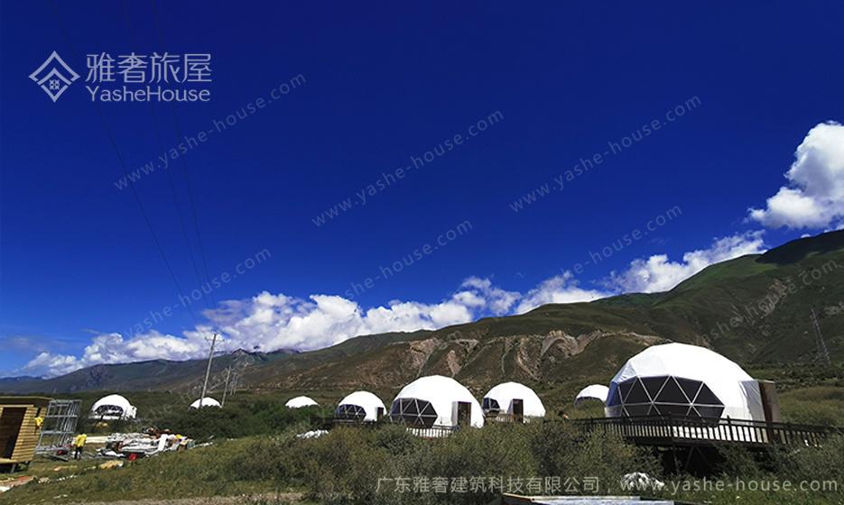 甘肃景区球形星空帐篷房-欧美风格户外露营帐篷房