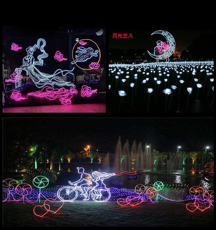 春节装饰亮化灯光秀展览活动道具美陈定制租售