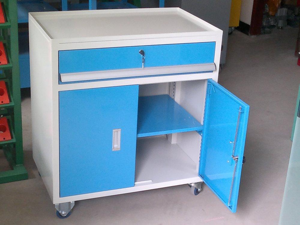 天津工具车 手推工具柜 三层零件车厂家