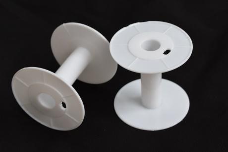 白色工字轮绕线盘电线塑料线盘线轴耐摔卷线器