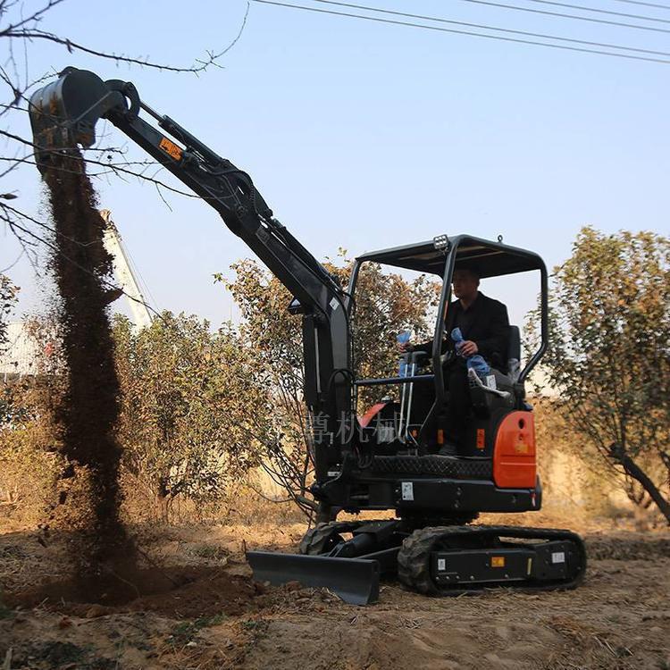 矿山工程履带挖石机 温室大棚迷你挖土机