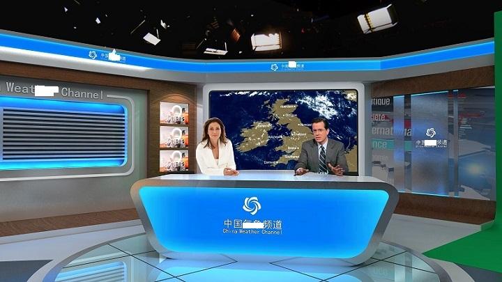 天创华视中小型虚拟演播室装修 虚拟演播抠像设备 网络直播系统