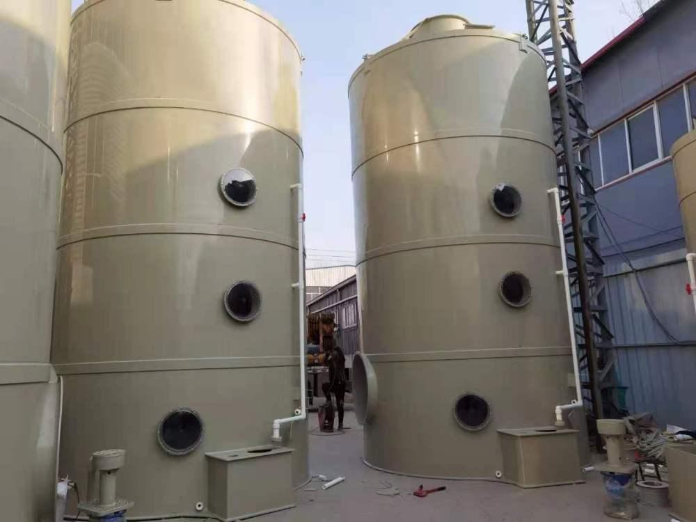 PP阻燃喷淋塔工业酸碱废气处理 酸雾净化塔不锈钢喷淋塔